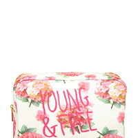 Floral Print Cosmetic Case