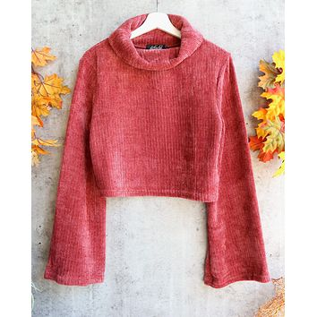 Final Sale - MINKPINK - Whole Hearted Chenille Sweater in Masala