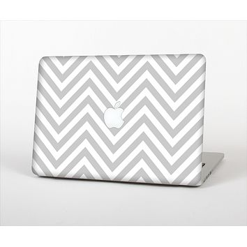 The Gray & White Sharp Chevron Pattern Skin Set for the Apple MacBook Air 13""
