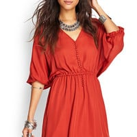 Buttoned Fit & Flare Dress