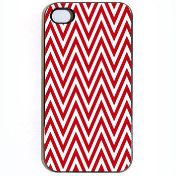 iPhone 4 4s Red Chevron Hard iPhone Case Comes in by KustomCases
