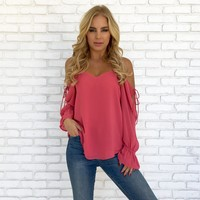 Heart of Mine Blouse in Pink