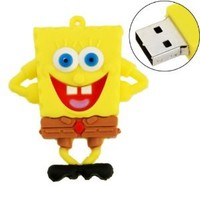 16GB USB Flash Drive Cute Cartoon SpongeBob Style 16G Memory Stick U Disk - Yellow