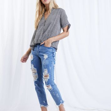 Torn Through BF Jeans