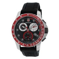 Wenger Men's Battalion Field Chrono Red and Black Rubber Strap Watch