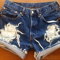Size 8/10 Levi's High Waisted Jean Shorts