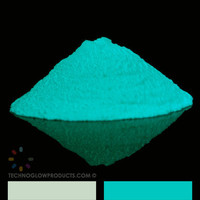1 oz  Glow in the Dark Pigment Powder  Aqua by TechnoGlowProducts