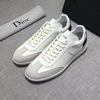 Dior Men's B01 Leather Fashion Low Top Sneakers Shoes