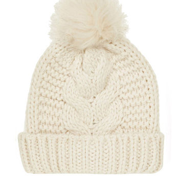 Hair Bulb Turned-over Edge Wool Hat