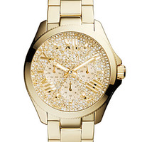 Fossil Ladies Cecile Gold Tone Glitz Chronograph Watch