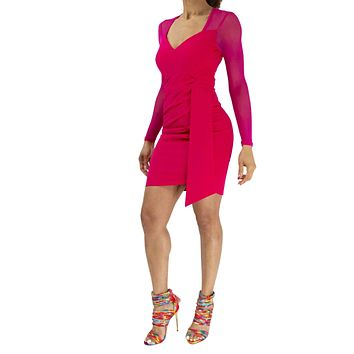 Center of Attention | Bodycon Mesh Detail Dress