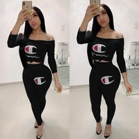 CHAMPION Womens Two Piece Top and Pants Set Clothing G125