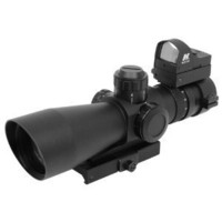 NcStar Mark III Tactical P4 Sniper 3-9X42/Scope Adaptor Mount/Red Dot Combo Package (STP3942G/D)