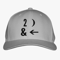 To The Moon And Back  Embroidered Baseball Cap