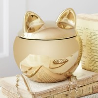 The Emily + Meritt Gold Cat Canister