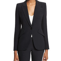 Alexander McQueen Classic Suiting Jacket, Black
