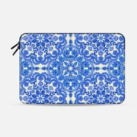 Cobalt Blue & China White Folk Art Pattern Macbook 12 sleeve by Micklyn Le Feuvre | Casetify