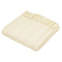 """Traditons by Waverly Throw - Ivory (50""""x60"""")"""
