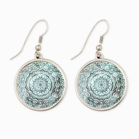 EMERALD JEWEL MANDALA EARRINGS