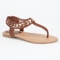 Soda Cooper Girls Sandals Tan  In Sizes