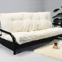 Crown Mark Black Metal Sleeper Futon Sofa Bed