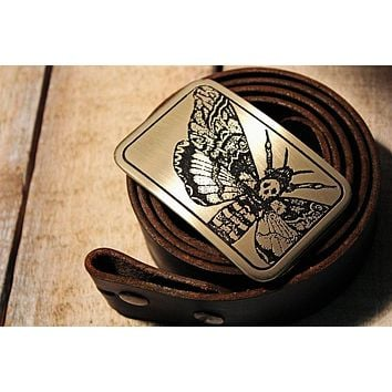Death's Head Hawk Moth Belt Buckle