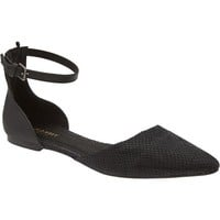 Old Navy Womens Pointy Ankle Strap Dorsay Flats
