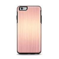 The Rose Gold Brushed Surface Apple iPhone 6 Plus Otterbox Symmetry Case Skin Set