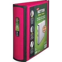 Staples Better 2-Inch D 3-Ring View Binder, Pink (13570-CC) | Staples
