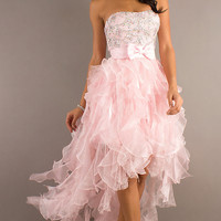Pink High-Low Prom Dress by Dave and Johnny