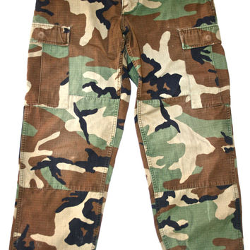 Vintage Military Issue Mens Camouflage Pants W27 - W31