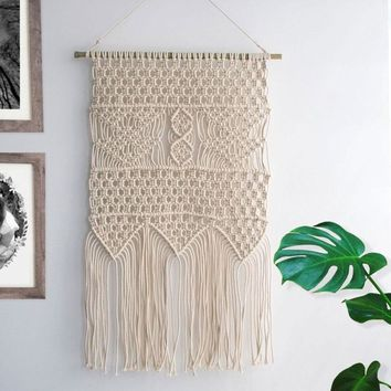Macrame Wall Hanging Tapestry BOHO Home Decor Bohemian Apartment Room Dorm