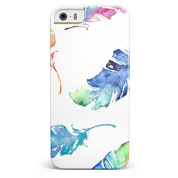 Colorful Watercolor Feathers iPhone 5/5s or SE INK-Fuzed Case