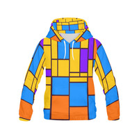 Shapes in retro colors All Over Print Hoodie for Men (USA Size) (Model H13) | ID: D1438944