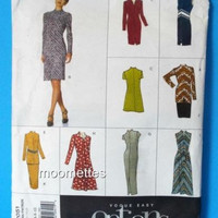 Vogue Easy Options 2051 Caftan Dress Tunic Skirt Sewing Pattern 6 8 10 New Uncut FF