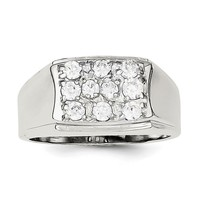 Sterling Silver Men's CZ Ring QR1283