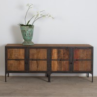 Hyderabad Reclaimed Wood and Metal Buffet - Reclaimed Wood Furniture - Material