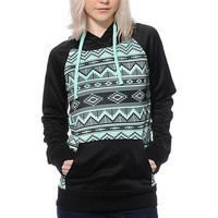 Teal Aztec Woman Fashion Hoodie Sweatshirt