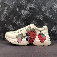 Gucci Rhyton Sneaker With Strawberry - Best Online Sale