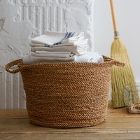 Coiled Rope Laundry Basket
