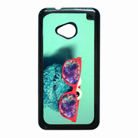cookie monster glass nebula for HTC One M7 case *RA*