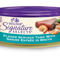 Wellness Signature Selects Flaked Tuna & Shrimp Cat Food 24/2.8 oz
