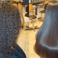 keratin on natural hair - Google Search