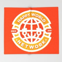 HAPPY WORLD NEWS NETWORK Throw Blanket by Chobopop