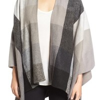 Nordstrom Check Woven Poncho | Nordstrom