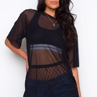 See Through You Mesh Top