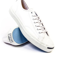 Jack Purcell x Converse Low Tumbled White Leather Sneaker