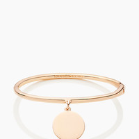 Kate Spade Partners In Crime Hinged Idiom Bangle Rose Gold ONE