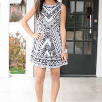 Spin Me Around Dress - Black and Ivory