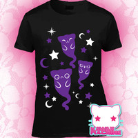 Kawaii Fairy Kei Pastel Goth Ghostly Kitty Cats Graphic T Shirt